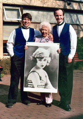 Ben & Brad with Ziegfeld Girl Doris Eaton Travis